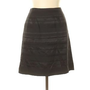 Banana Republic Striped Black Satin Skirt